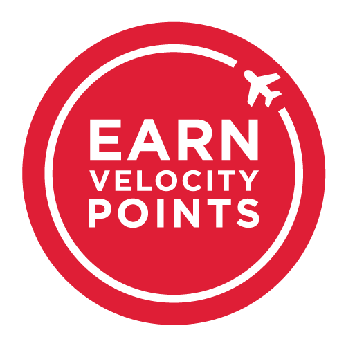 Earn Velocity frequent flyer points, 3 points per $1 spend.